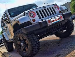 jeep wrangler blue headlights multi color halo lights and led lighting 2012 jeep wrangler
