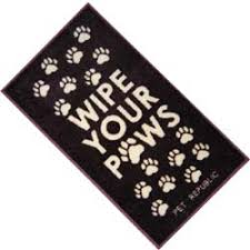 Wipe Your Paws Footprint Doormat Muddy Paws Barrier Mats