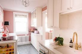 designer and stylist tickled pink with kitchen renovation graphic mosaic floor tiles play well against the white grey and beige of the marble