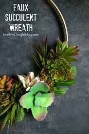 succulent wreath faux succulent wreath