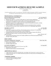 Waitress Resume Template 100 Wait Staff Resume Template Exle Of A Resume Summary