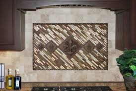kitchen backsplash medallions featured installations metal coat tile signs