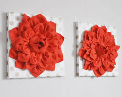 Gold And Coral Bedroom Coral Wall Art Etsy