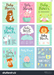 baby shower design cute woodland animals stock vector 474248113