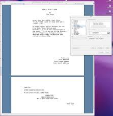 template screenplay template
