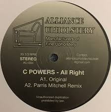 Upholstery Dvd C Powers All Right Vinyl At Discogs
