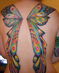 color ink butterfly wings tattoos on back photo 2 photo