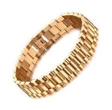 steel bracelet images Luxury 18k gold filled men heavy stainless steel bracelet c s jpg