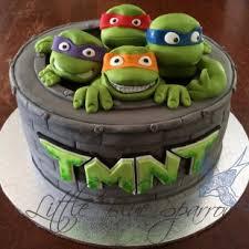 teenage mutant ninja turtle party tmnt birthday cake by little