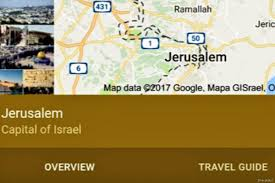 israel google google declares jerusalem the capital of israel middle east monitor