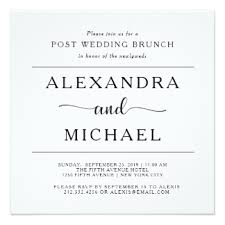 after wedding brunch invitation brunch wedding invitations announcements zazzle