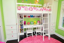 Loft Bunk Beds Bunk Beds For Kids With Stairs And Desk Pink - Pink bunk beds for kids