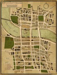 halloween horror nights map h p lovecraft u0027s arkham by hal eccles u0026 nathan mangion maps