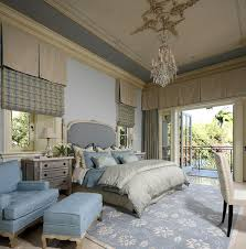traditional master bedroom with concrete floors u0026 crown molding