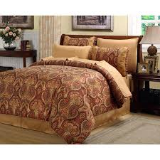 Queen Size Red Comforter Sets Beautiful Rich Elegant Red Gold Comforter Set 8 Pc Cal King Queen