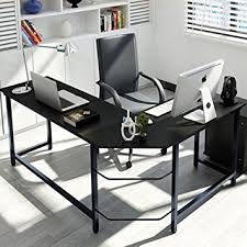 Modern L Desk Tribesigns Modern L Shaped Desk Corner Computer Desk