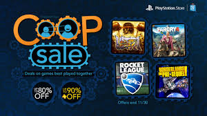playstation 4 thanksgiving sale co op sale up to 80 off borderlands rocket league and more