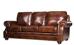 Abbyson Leather Sofa Reviews Amazon Com Abbyson Living Karington Hand Rubbed Leather Sofa