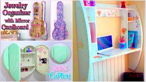 Diy Bedroom Decorating Ideas For Teens Diy Crafts For Room Decor 3 Cardboard Furnitures Diy Room
