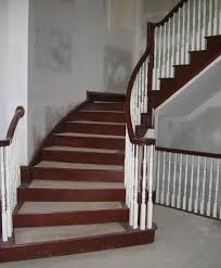Wooden Banister Custom Stair With White Wood Banister By Stair Com