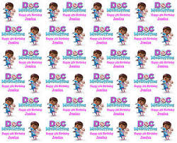 doc mcstuffins wrapping paper personalised gift wrapping paper doc mcstuffins style birthday
