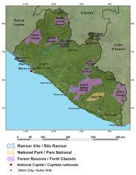 Map West Africa by The Republic Of Liberia West Africa
