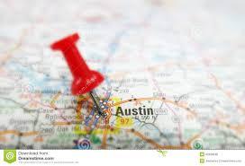 Greenbelt Austin Map by Austin Map Stock Photo Image 42920540
