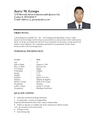 Sample Resume For Ojt Mechanical by Sample Resume For Ojt Word Document Resume Ixiplay Free Resume