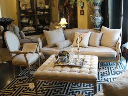 Black And White Chair And Ottoman Design Ideas Furniture Tufted Leather Ottoman Coffee Table With Pattern Rug