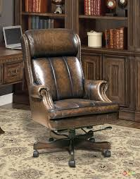 Leather Tufted Chair Brown Leather Office Chair Rocket Potential