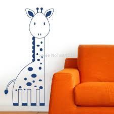 online get cheap giraffe wall murals aliexpress com alibaba group animals cute kids giraffe silhouette wall art stickers decal home diy decoration decor wall mural removable