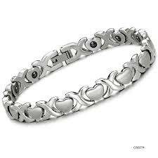 women bracelet heart images Jewelry 316l stainless steel bracelet sliver cross x links with jpg