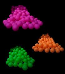 blacklight reactive pong balls 144 ct