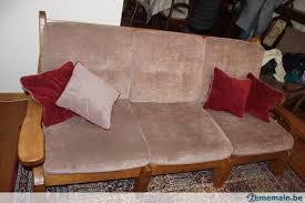 divan canapé divan canapé 3 places en chêne a vendre 2ememain be