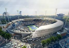 map us open new grandstand tennis stadium will open for the u s open