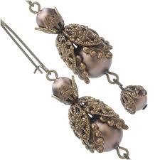 filigree earrings velvet brown filigree earrings beading projects tutorials