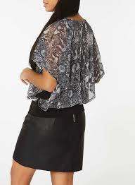 snake print blouse billie blossom grey snake print blouse tops sale dorothy