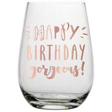 wine birthday happy birthday gorgeous wine glass bella grace paper and gifts
