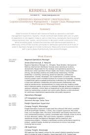 Supply Chain Management Resume Examples by Regional Operations Manager Resume Samples Visualcv Resume
