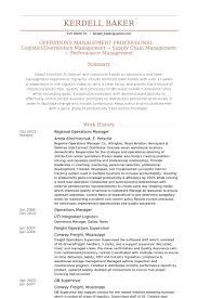 Manager Resume Template Regional Operations Manager Resume Samples Visualcv Resume