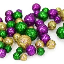 glitter mardi gras confetti balls bag mz2006mg