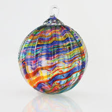 mt st helens volcanic ash blown glass ornament
