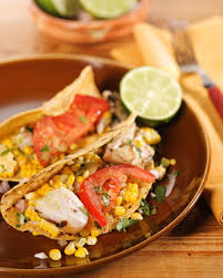 Seafood Recipes For Entertaining Martha by Grilled Fish Tacos With Roasted Chile And Avocado Salsa Recipe
