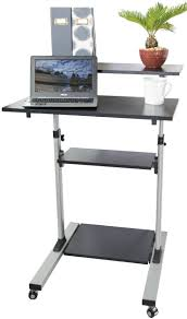 table scenic vivo mobile height adjustable stand up desk computer