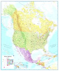 Wall Map Of Usa by Wall Map Of North America With Map Usa Wall Largemap And Canada