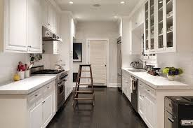 white shaker style cabinets in a galley kitchen homecrest norma