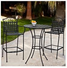 Wrought Iron Patio Bistro Set Wrought Iron Bistro Set Bar Height Pub Counter Tall Table Chair