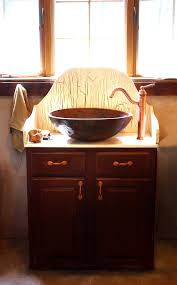 bathroom vanity with copper sink excellent diy save money by