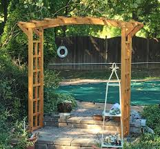 arched arbor kit for sale custom made forever redwood