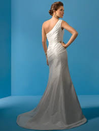 one shoulder wedding dresses 2011 2011 style sheath column one shoulder sleeveless court trains